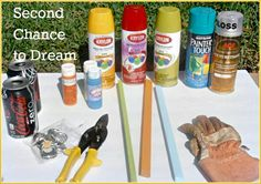 Second Chance to Dream: Recycle Project: Pop Cans turned Garden Art