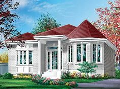 COOL house plans offers a unique variety of professionally designed home plans with floor plans by accredited home designers. Styles include country house plans, colonial, Victorian, European, and ranch. Blueprints for small to luxury home styles. Small House Floor Plans, Small Tiny House, Best House Plans, Modern House Plans, Small Homes, Tiny Houses, 2 Bedroom House Plans, Bungalow House Plans, Bungalow House Design