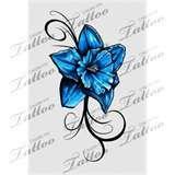 Vivid Daffodil Tattoo Blue