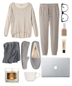 """Lazy day"" by roxypiggie1213 ❤ liked on Polyvore featuring Pure Collection, Uniqlo, UGG Australia, Cole Haan, philosophy, iittala and Essie"