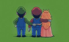 Threesome Luigi - Mario - Beach