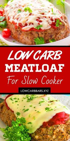Low Carb Slow Cooker Meatloaf - This super easy keto slow cooker meatloaf recipe. - Low Carb Slow Cooker Meatloaf – This super easy keto slow cooker meatloaf recipe is not only low - Low Carb Meatloaf, Healthy Meatloaf, Slow Cooker Meatloaf, Good Meatloaf Recipe, Meatloaf Recipes, Cooking Meatloaf, Slow Cooker Ground Beef, Low Carb Slow Cooker, Slow Cooker Recipes