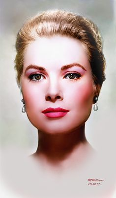 Hollywood Icons, Hollywood Celebrities, Hollywood Glamour, Classic Hollywood, Old Hollywood, Caroline Von Hannover, Fashion Illustration Face, Patricia Kelly, Princess Grace Kelly
