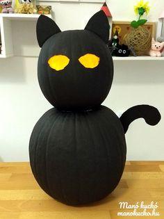 Óriás halloween macska lámpás tökből Pumpkin, Halloween, Pumpkins, Halloween Labels, Squash, Spooky Halloween
