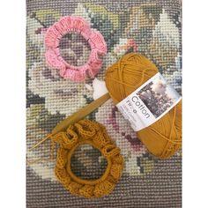 Scrunchies, Crochet Earrings, Cotton, Dyi, Tejidos