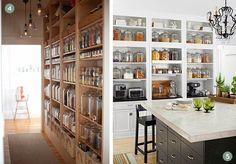 Modern konyha ötletek: kamrapolcok szabadon   Inspirációk Csorba Anitától
