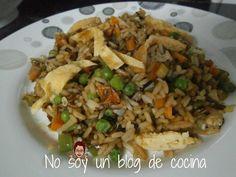 No soy un blog de cocina: ARROZ CON VERDURAS Y SALSA DE SOJA