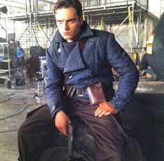 A blast from the past - Sebastian on the set of Captain America: The First Avenger. Looking hot as ever!