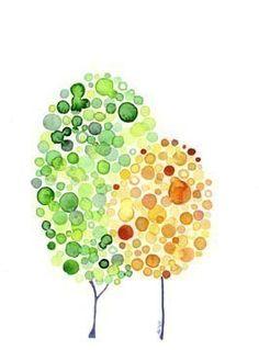 Inspirierende Aquarell Baum Kunst Stand By Me Print