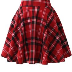 Red plaid skater skirt Barely worn, red plaid skater skirt Chicwish Skirts Circle & SkaterYou can find Skater skirt outfi. Kpop Outfits, Edgy Outfits, Teen Fashion Outfits, Cute Casual Outfits, Girl Outfits, Red Polka Dot Skirt, Checkered Skirt, Red Tartan Skirt, Red Plaid