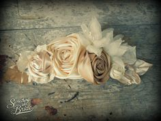 Beautiful Rustic Vintage Wedding Dress Decoration  www.somethingoldbride.com