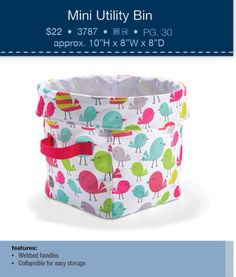 Love the Mini Utility Bin in Best Tweets! :)  Perfect EASTER basket! www.mythirtyone.com/lizmumpower