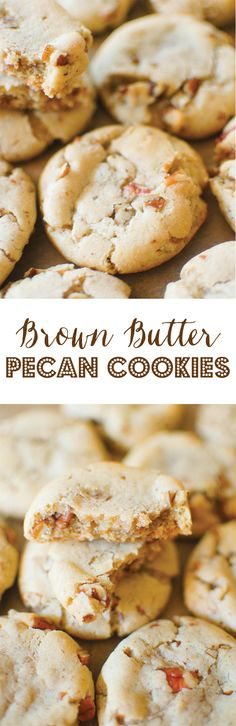 Soft, chewy and buttery cookies exploding with brown butter flavor and loaded with pecans!