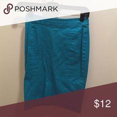 H&M fun turquoise pencil skirt size 2 Cute turquoise pencil skirt H&M H&M Skirts Pencil