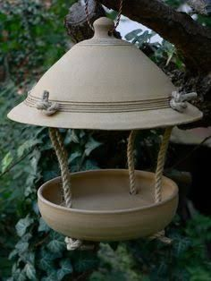 Afbeeldingsresultaat voor clay bird feeders