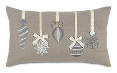Glistening Ornaments Christmas throw pillow ATE-325 by Eastern Accents