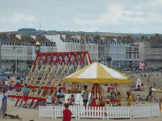 Weymouth beach. traditional rides. Weymouth Beach, Dorset Coast, British Seaside, Home And Away, Old Photos, Portland, Summertime, England, Holidays