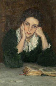 The Artist's Wife (Susan Gillis, d. 1941) - Stewart Carmichael (1867-1950)