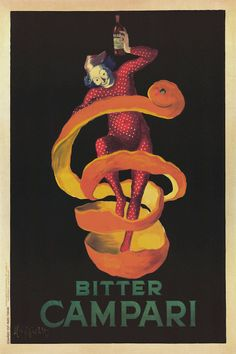 Professionally Framed Poster Print with Black Solid Hard Wood Frame Leonetto Cappiello Bitter Campari Vintage Ad Art Print Poster Vintage Italian Posters, Pub Vintage, Vintage Advertising Posters, Vintage Labels, Vintage Advertisements, Unique Vintage, Vintage Food, Mini Poster, Poster S