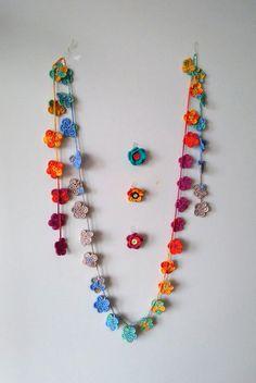 Best 12 DIY Projects PatternTwo designs 2 in 1 Crochet PatternWrap – SkillOfKing. Crochet Necklace Pattern, Crochet Jewelry Patterns, Crochet Wrap Pattern, Crochet Flower Patterns, Bead Crochet, Pattern Flower, Crochet Earrings, Diy Crochet Flowers, Crochet Garland