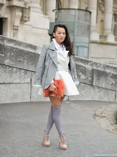 crisp shirt + white jacket // @dressmeSue