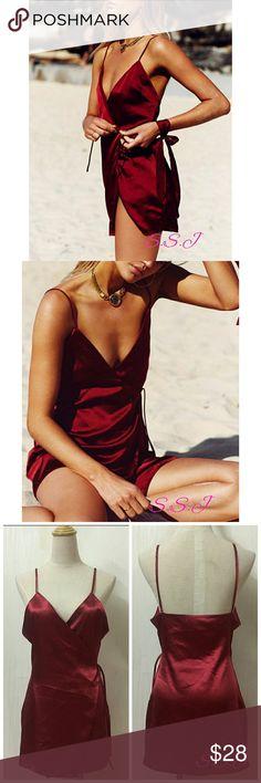 NEW ARRIVAL!!!😍😍 Gorgeous red Sexy Deep V Neck Straps Mini Dress boutique Dresses Mini