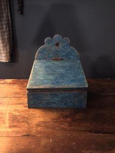 Early Primitive Reproduction Small Blue Wall Box  #NaivePrimitive