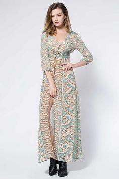 3 4 sleeve summer dresses long