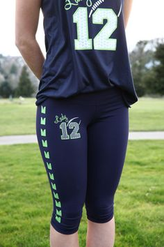 Seahawks Leggings or Yoga Pants by Lady 12s – Lady12s Fan Gear