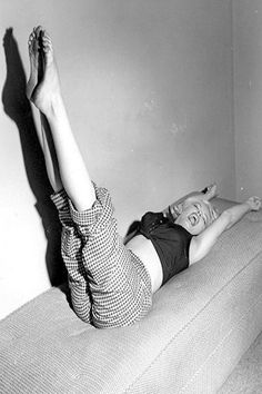 1952: Iconic images of the Hollywood actress and sex symbol Marilyn Monroe
