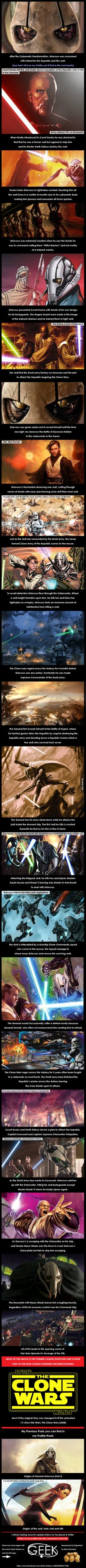 Origins of General Grievous (Part II) Star Wars History - 9GAG