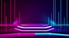 Hexagon stage and purple neon light Premium Photo Stage Lighting Design, Stage Set Design, Church Stage Design, Neon Lighting, Episode Backgrounds, Neon Backgrounds, Stage Background, Light Background Images, Dark Fantasy Art
