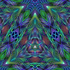 Chemical Doorways (square version) #psychedelic #art #dmt #lsd #hallucinations #psytrance #aumega #sacredgeometry #c4d #cinema4d #photoshop #mandala by aumega.art