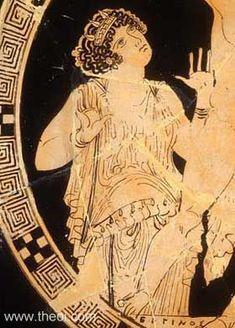 Gaea, goddess of the earth | Athenian red figure kylix C5th B.C. | Antikenmuseen, Berlin