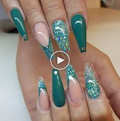40 stiletto nails 2018 – best trend fashion – Famous Last Words Glam Nails, Hot Nails, Fancy Nails, Stiletto Nails, Glitter Nails, Beauty Nails, Coffin Nails, Zebra Nails, Tribal Nails