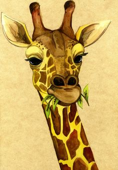 giraffe! #AnimalArt #Art