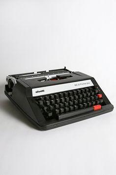 olivetti manual typewriter. plus great posters. circa 1953>70.