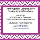 FREE PRINTABLE All of the Kindergarten Common Core Language Arts Standards are included. The document is 68 pages in length. Each individual standard is on one . Kindergarten Social Studies, Free Kindergarten Worksheets, Kindergarten Language Arts, Free Teaching Resources, Kindergarten Readiness, Free Worksheets, Parent Resources, Kindergarten Classroom, Teaching Ideas