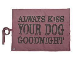 Colchonete para Pet Kiss Your Dog Goodnight Rosa – 58x78cm