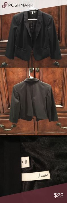 NWT frenchi black blazer Beautiful new without tags Frenchi black blazer. Size medium 65% polyester 31%rayon & 4% spandex. From Nordstroms Frenchi Jackets & Coats Blazers