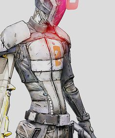 Zero from the videogame Borderlands 2 Borderlands Series, Tales From The Borderlands, Character Art, Character Design, Handsome Jack, Science Fiction Art, Gaming Memes, Cyberpunk, Game Art