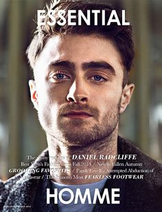 Harry Potter's star Daniel Radcliffe takes the cover story of Essential Homme's August/September 2014 issue lensed by fashion photographer Kevin Sinclair with styling by Michael Fisher. Images Harry Potter, Harry James Potter, Harry Potter Cast, Daniel Radcliffe Harry Potter, Saturday Night Live, Johnny Depp, Sinclair, Idole, British Actors