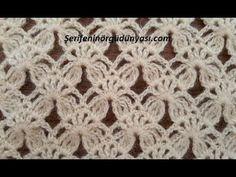 Cap to mit Blattzöpfen und im tunesischen Stich Crotchet Stitches, Crochet Stitches Patterns, Lace Patterns, Baby Knitting Patterns, Knitting Stitches, Crochet Designs, Stitch Patterns, Filet Crochet, Crochet Motifs