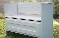 turn a dresser into a bench