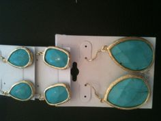 Turquoise Gold Earrings From $30-$40 for the big ones