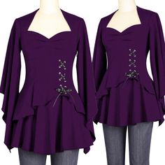 BlueBerry Hill Fashions: Gothic Corset Lace Top PLUS SIZE FASHIONS