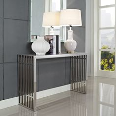 Contemporary console table.