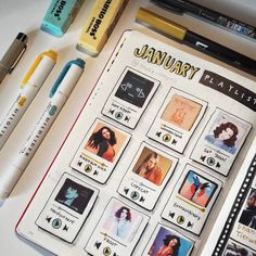 Playlist Bullet Journal Spreads for 2020 - atinydreamer Bullet Journal School, Doodle Bullet Journal, Bullet Journal Spreads, Bullet Journal Writing, Bullet Journal Aesthetic, Bullet Journal Ideas Pages, Creating A Bullet Journal, Journal Inspiration, Bullet Journel