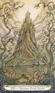 Fairy Tale Tarot Deck - the universe card is a grand arrival at your accomplishments