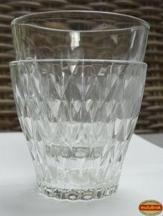"""Objet VINTAGE ... Les verres VERECO ** Verre en relief """"diamant"""" ** www.muluBrok.fr"""
